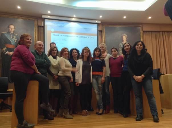 Alumnos del taller coaching para escribir blogs en Vélez-Málaga